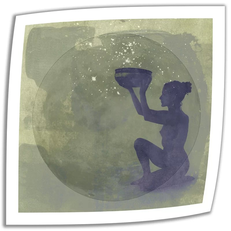 Astral Goddess by Elena Ray Graphic Art on Rolled Canvas Size: 14 H x 14 W