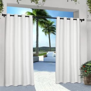 denton solid room darkening indoor outdoor grommet curtain panels set of 2