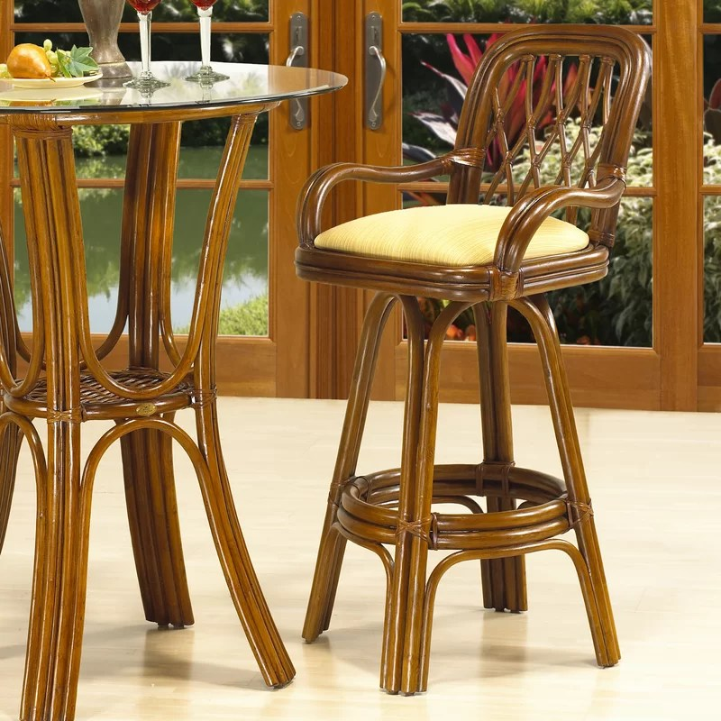 Coco Cay 30 Swivel Bar Stool Feature: With Arms Upholstery: 578