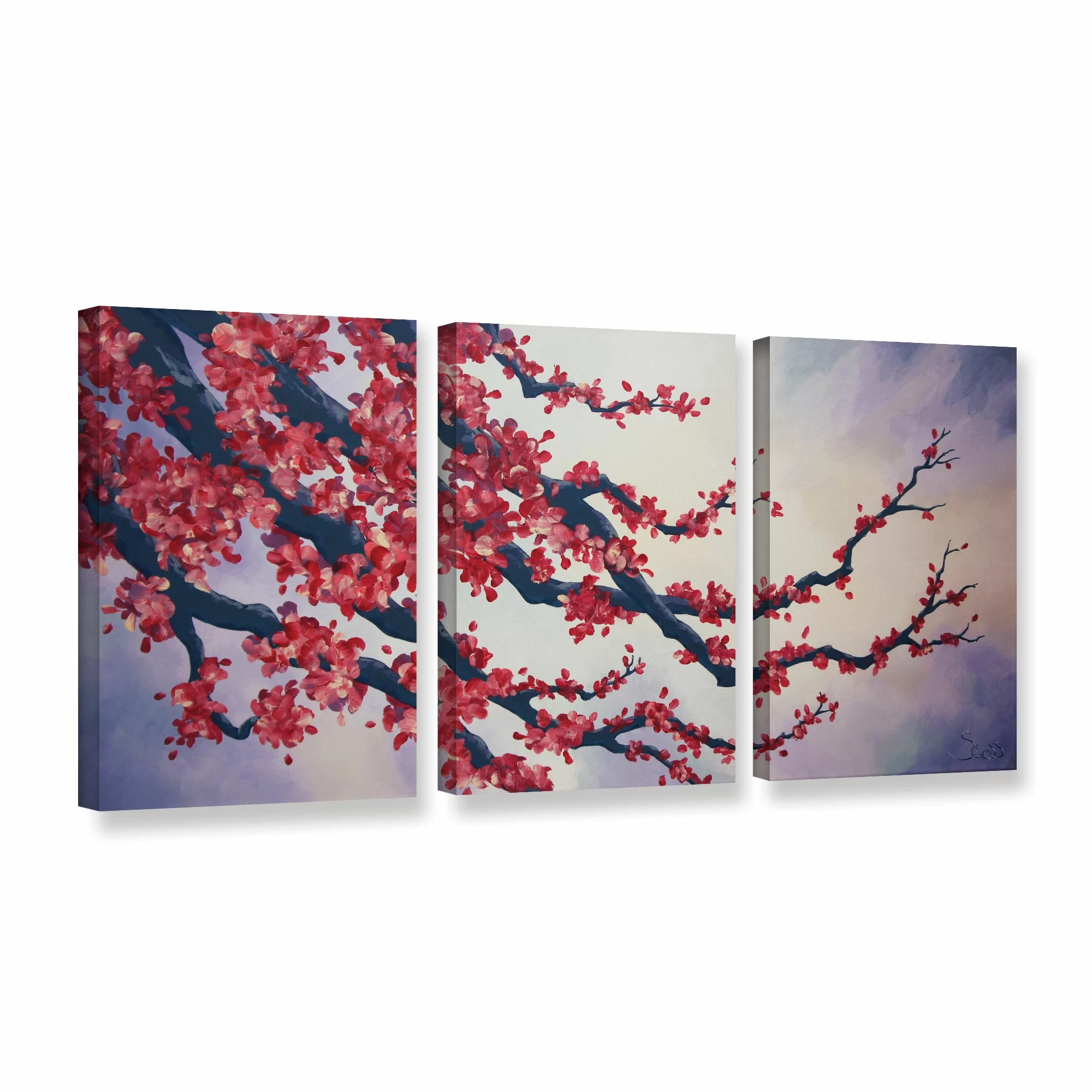 red cherry blossom by