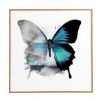 East Urban Home The Blue Butterfly Framed Painting Print Wayfair