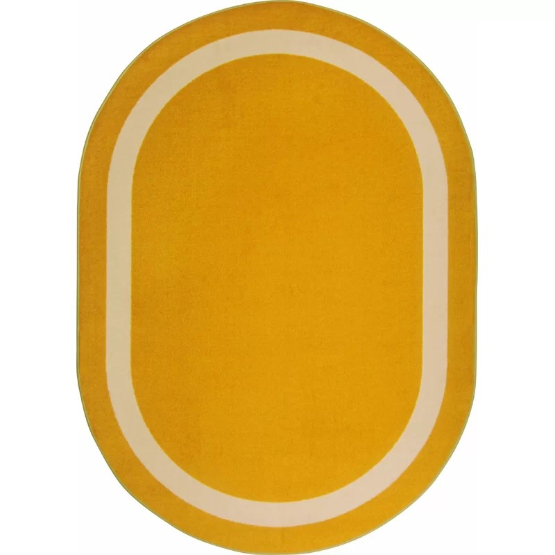 Orange Area Rug Rug Size: Oval 78 x 109