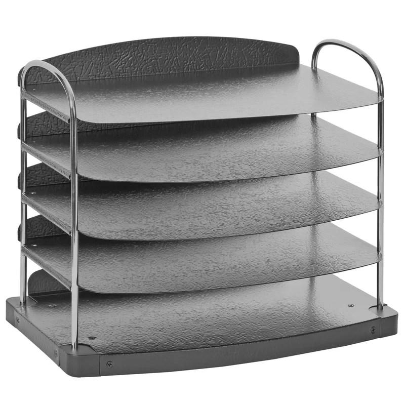 TrioTM 5 Pocket Horizontal Desk Tray Finish: Charcoal
