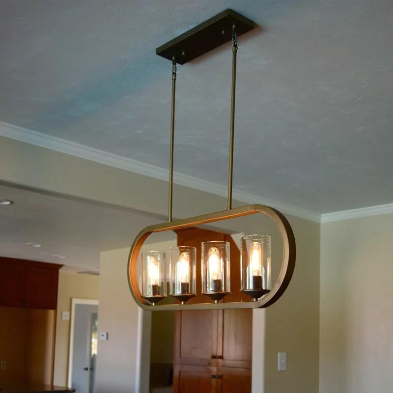 tilden 4 light kitchen island linear pendant
