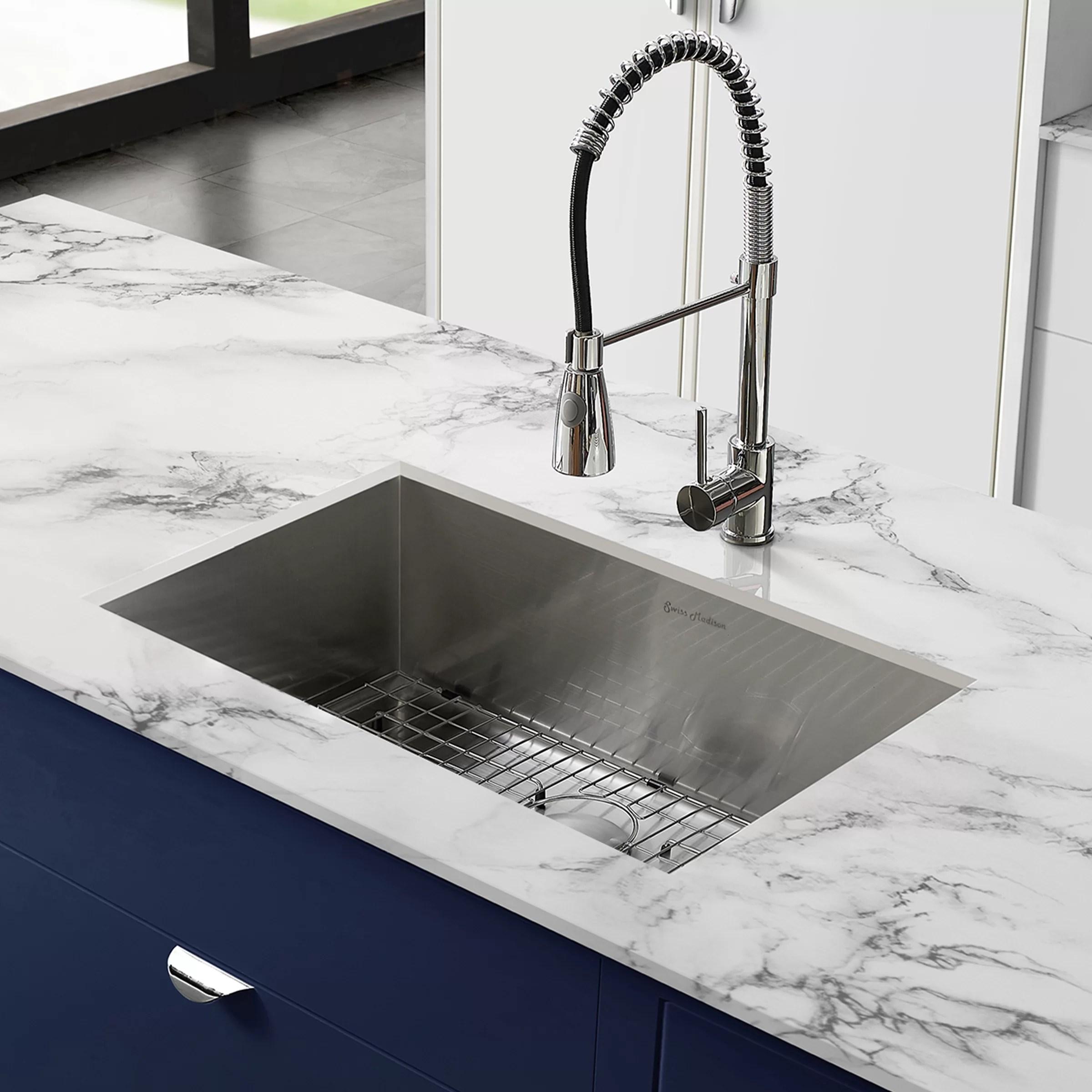 tourner stainless steel 27 x 19 undermount kitchen sink