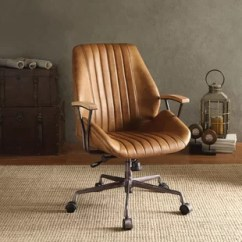 Desk Chair Brown Leather Grey And White Covers Office Chairs You Ll Love Wayfair Quickview