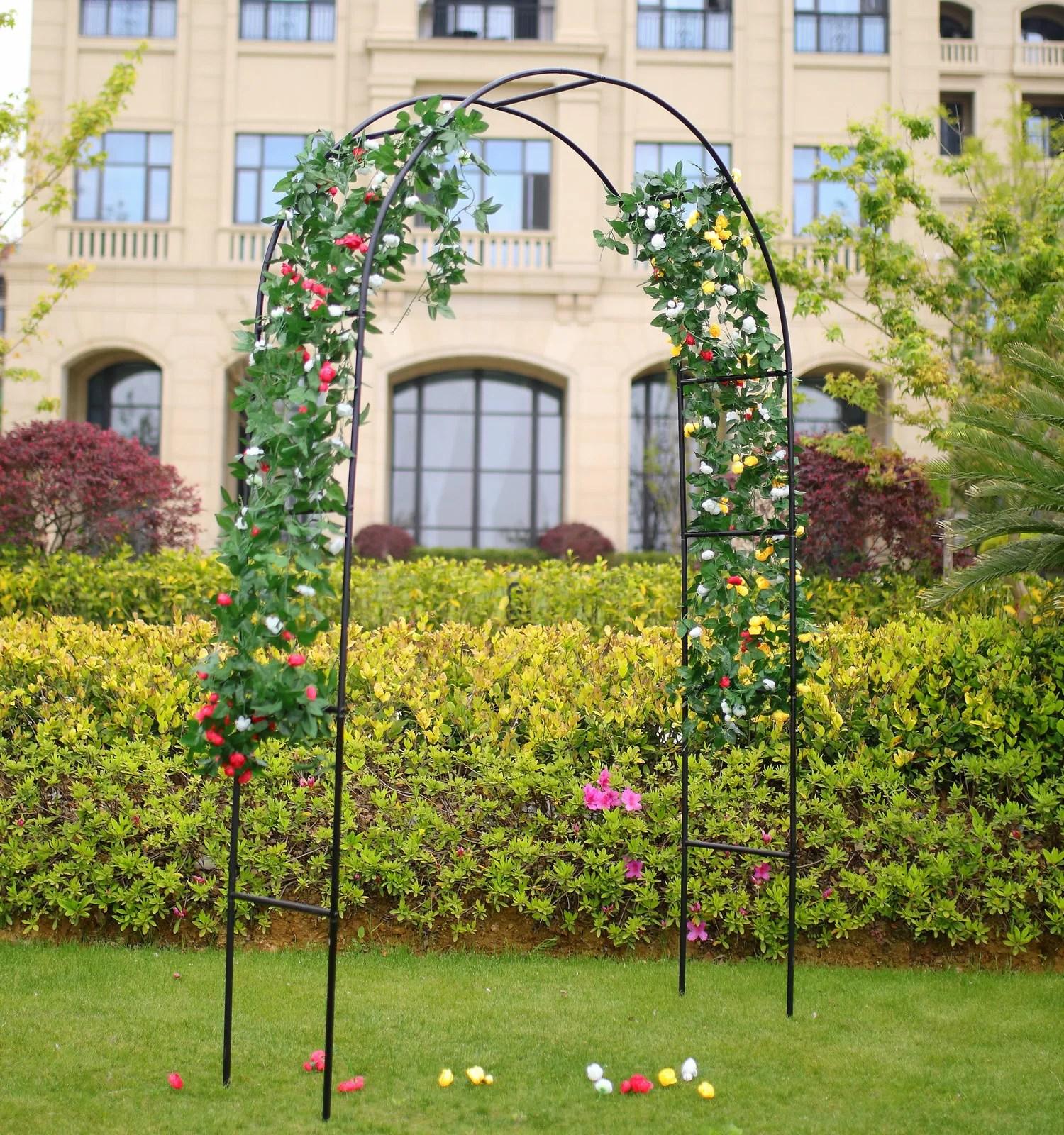 1 Go Steel Garden Arch 7 8 High X 4 5 Wide Garden Arbour For Various Climbing Plant Reviews Wayfair Ca