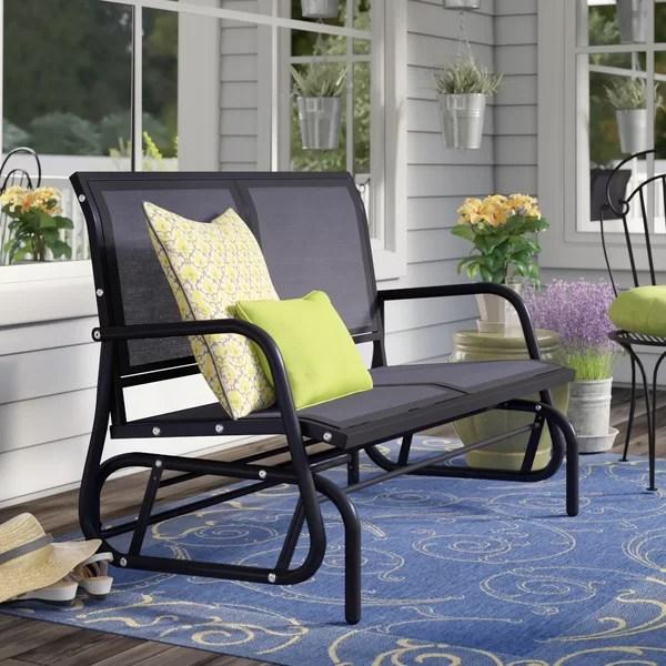 veronica 48 outdoor patio swing glider bench