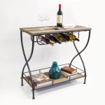 Gracie Oaks Savarese Rustic Industrial Bar Cart Reviews Wayfair