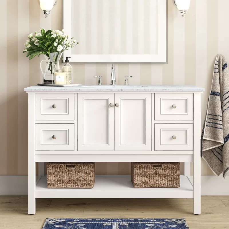 Sara 48 Single Bathroom Vanity Set Reviews Joss Main