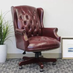 Oxblood Leather Wing Chair Race Car Seat Gaming Wayfair Quickview