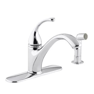 four hole kitchen faucets aid products delta 4 faucet wayfair forte sink with 9 1 16 spout matching finish sidespray