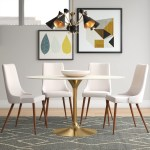 Langley Street Kylee Artificial Marble Oval Shaped Dining Table Reviews Wayfair Ca