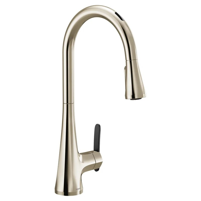 sinema pull down touchless single handle kitchen faucet with motionsense