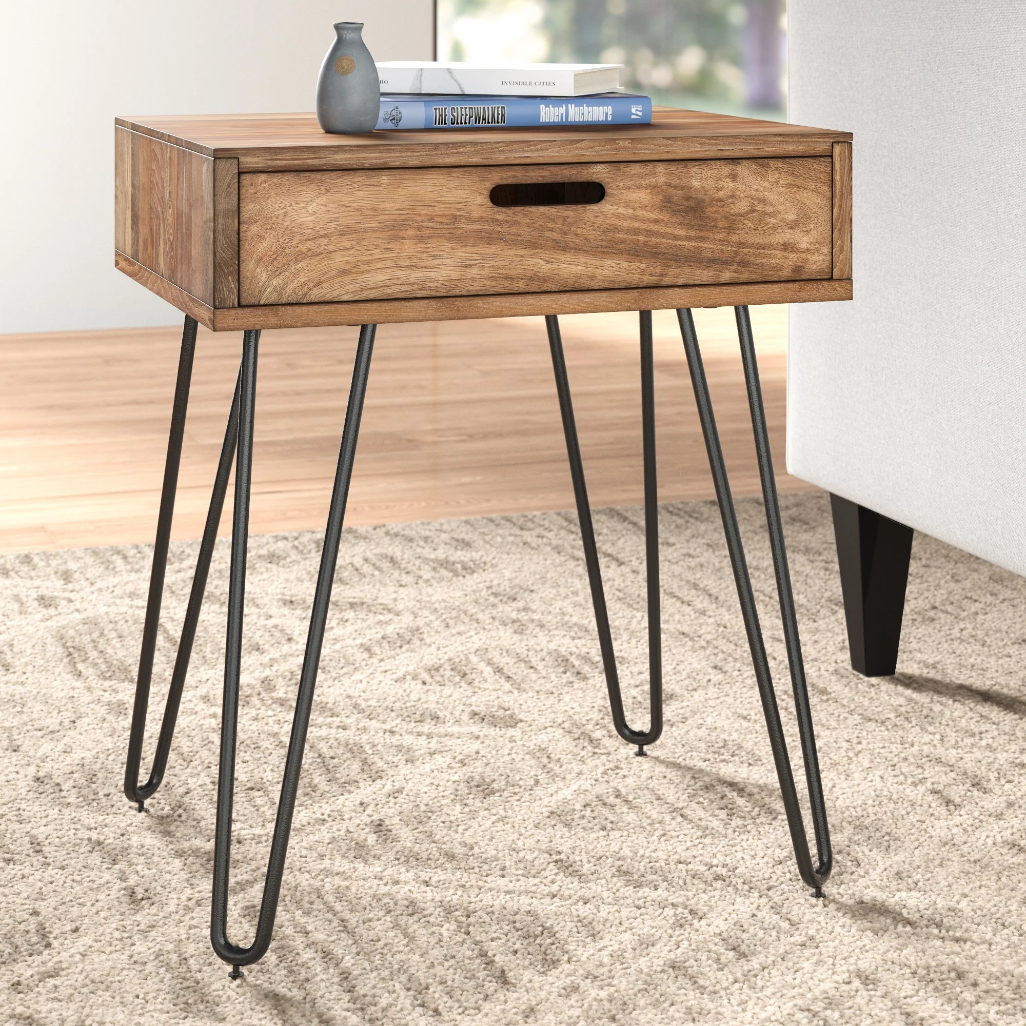 modern drawers end side tables