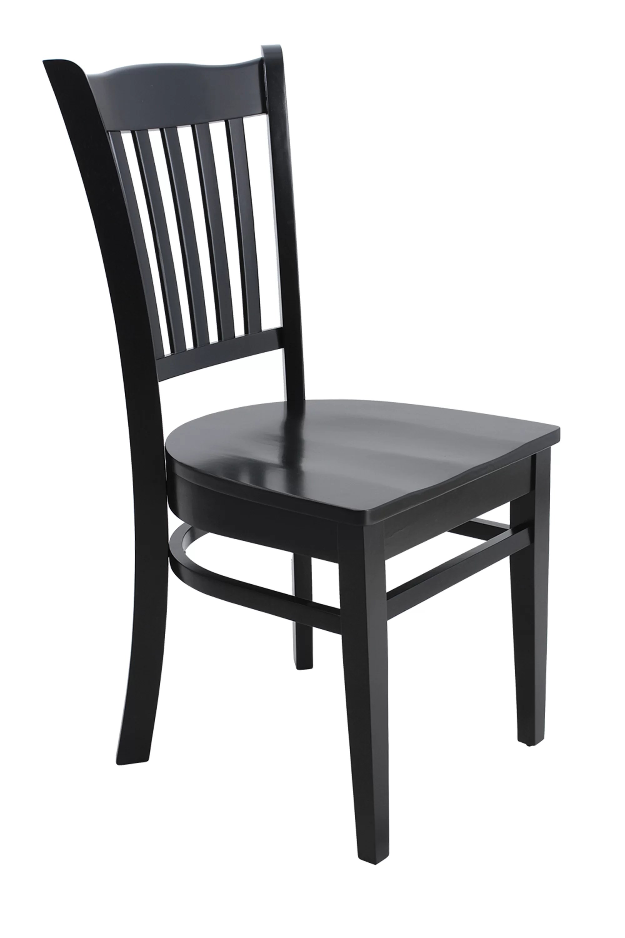 Curved Back Chair Lavonna Curved Back Solid Wood Dining Chair