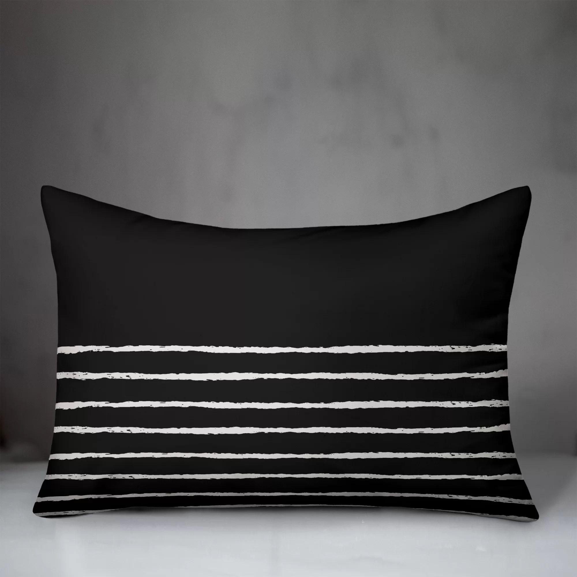 black white lumbar throw pillows you