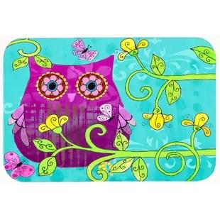 owl kitchen rugs retro table rug wayfair sittin in the flowers bath mat