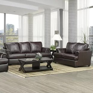 lodge living room furniture black and white modern design sets you ll love wayfair ca verano leather 2 piece set