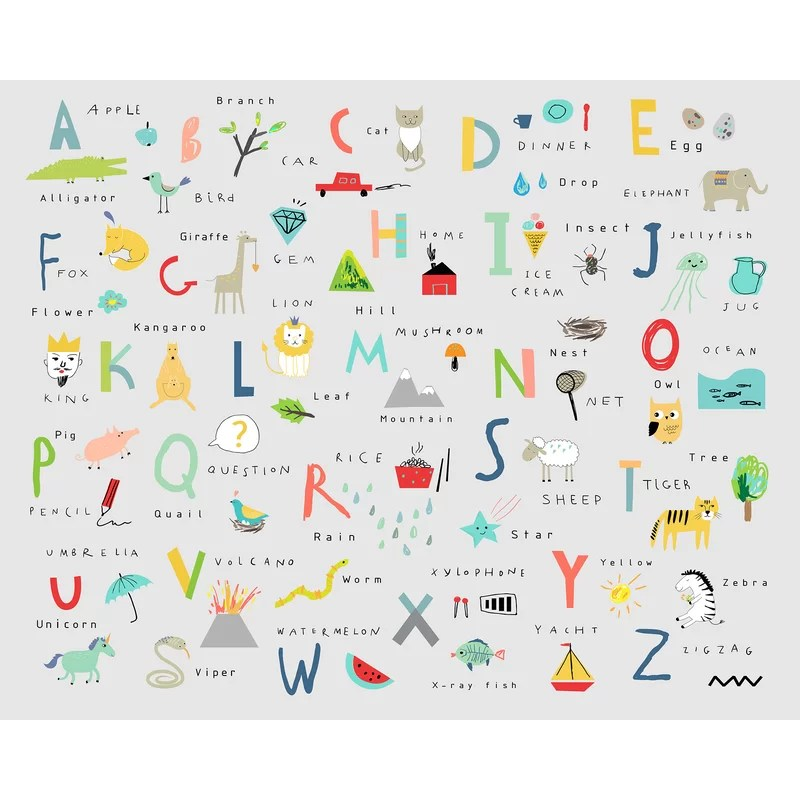 tamesbury alphabet 94 l x 118 w semi gloss 6 panel wall