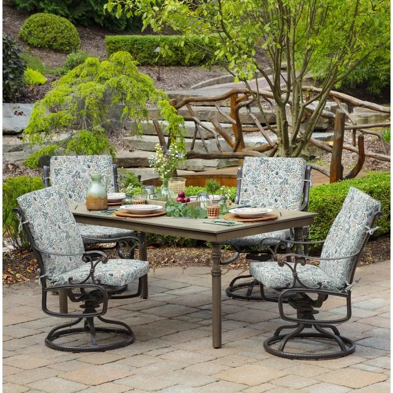 pistachio botanical outdoor chair cushion