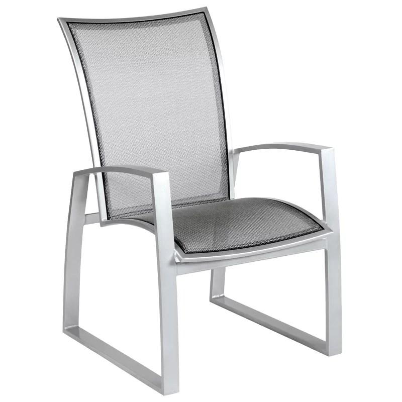 wyatt flex sling patio dining chair