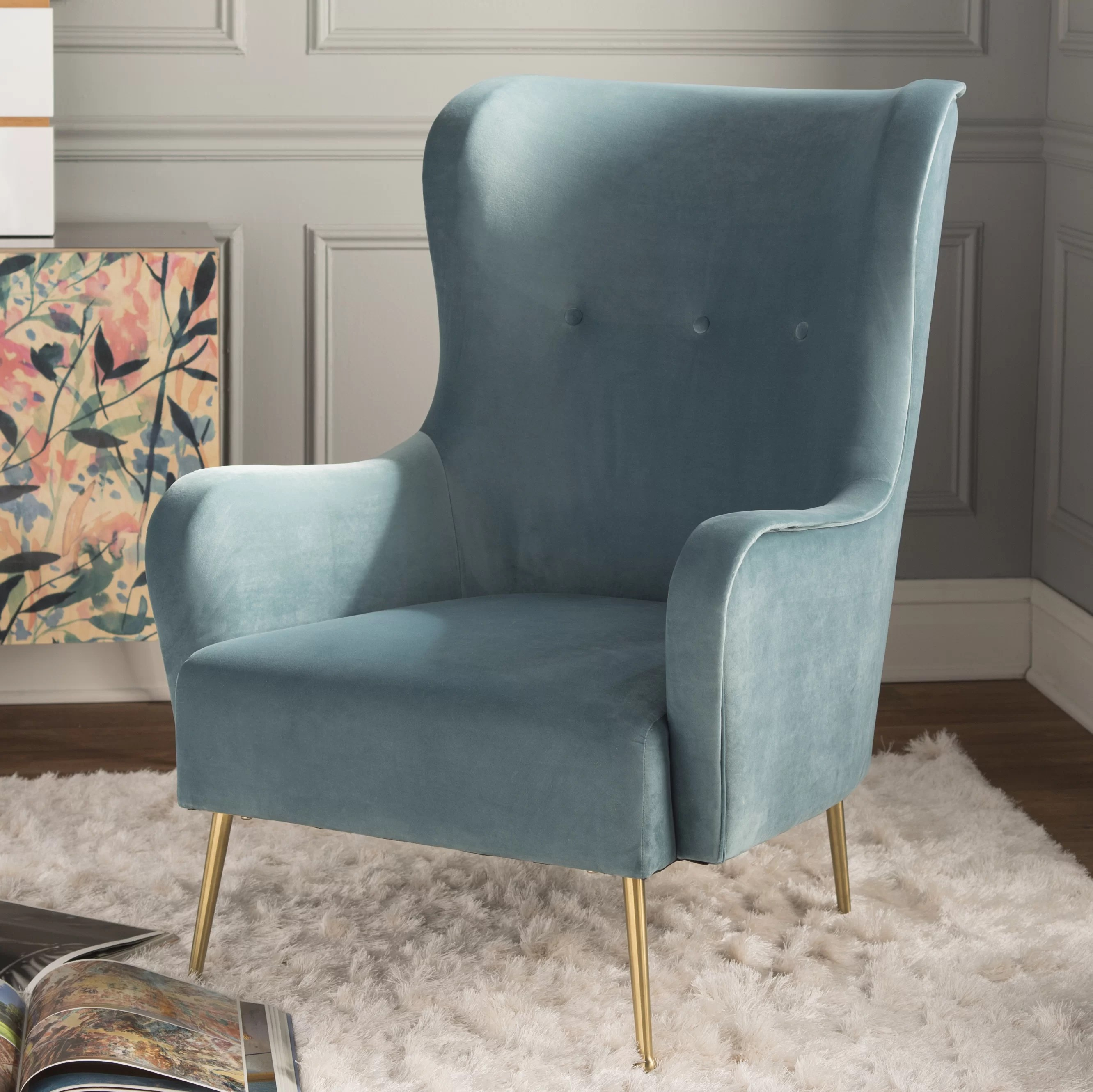 Teal Wingback Chair Burke Wingback Chair