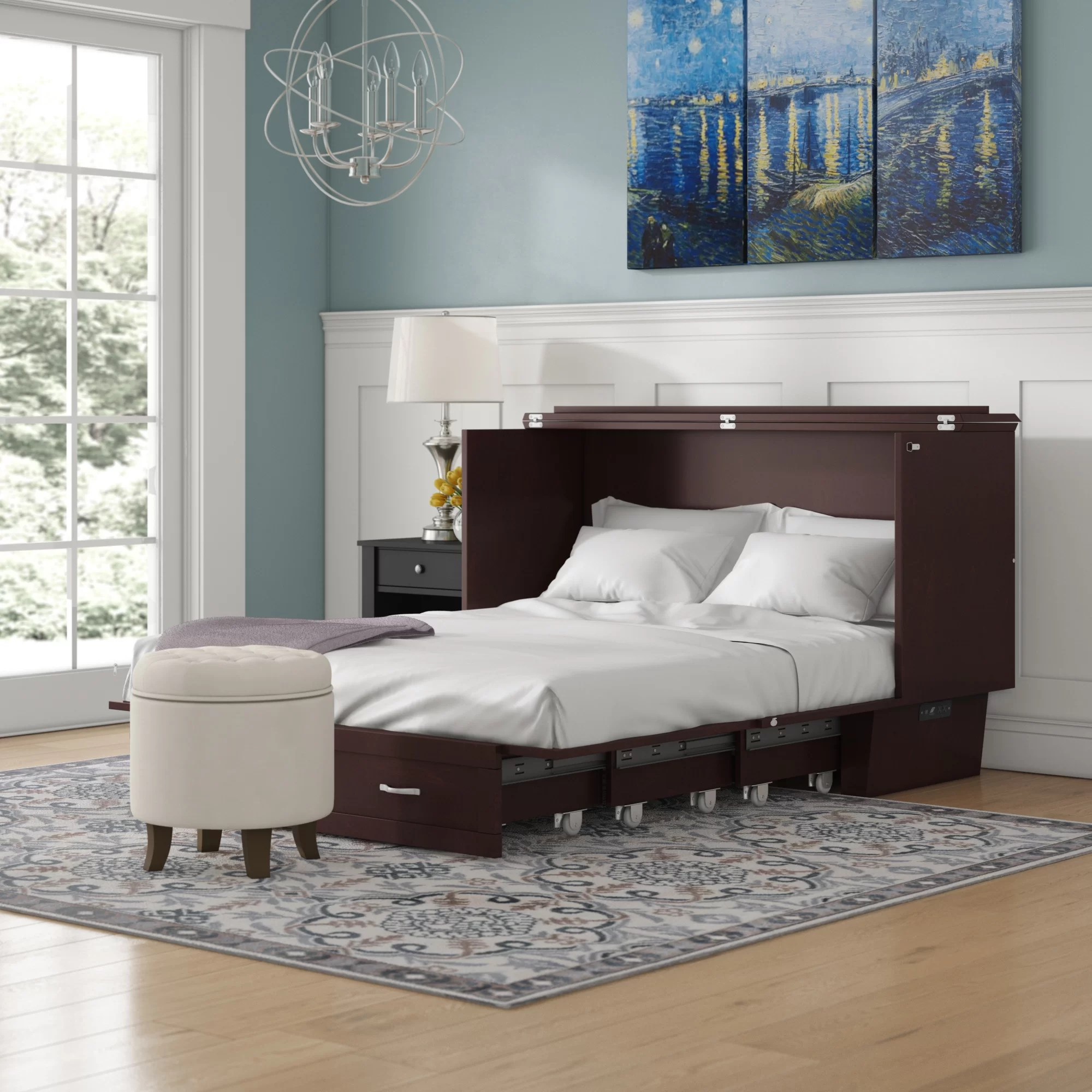 Red Barrel Studio Greeson Queen Storage Murphy Bed With Mattress Reviews