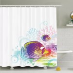 East Urban Home Fish Sea Animals Kids Shower Curtain Set Reviews Wayfair