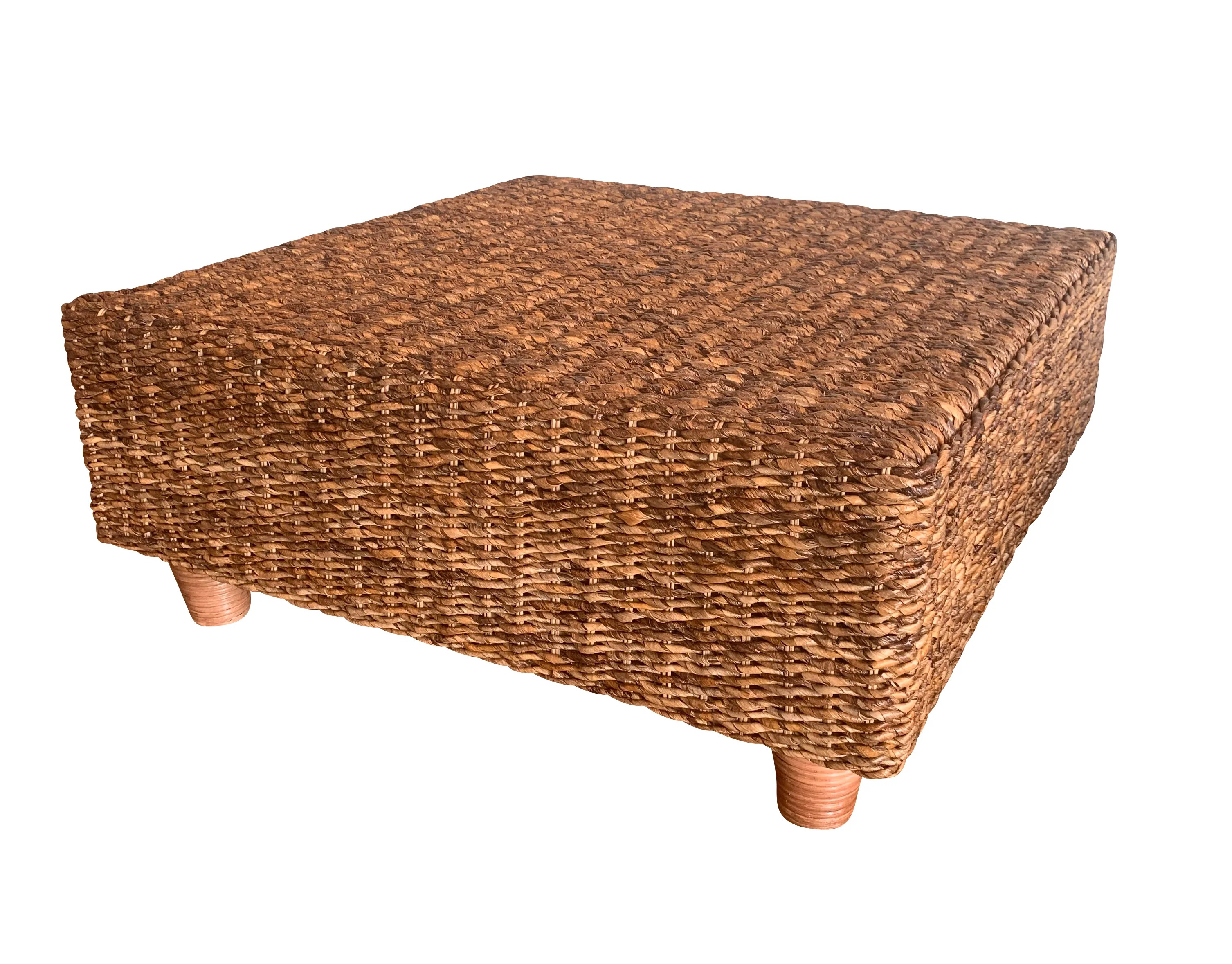 rattan wicker square coffee tables