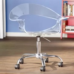 Clear Desk Chairs Bentwood Cafe Lucite Chair Wayfair Mikayla