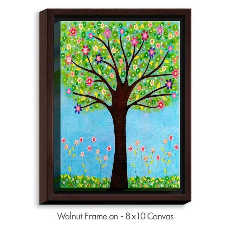 Sunlight by Sascalia Graphic Art on Wrapped Framed Canvas Size: 25.75 H x 19.75 W x 1.75 D Frame Color: Walnut