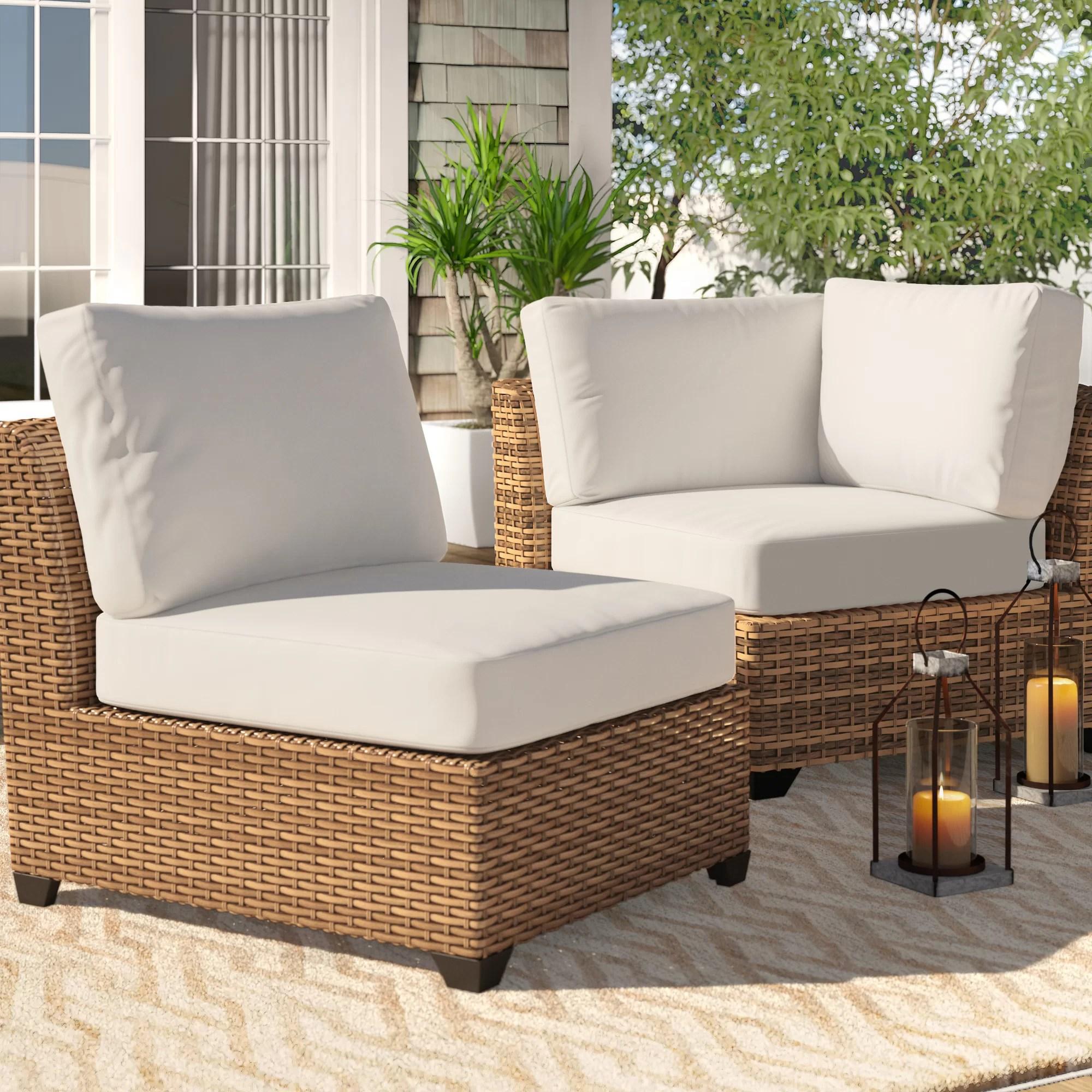 outdoor seat back cushion set