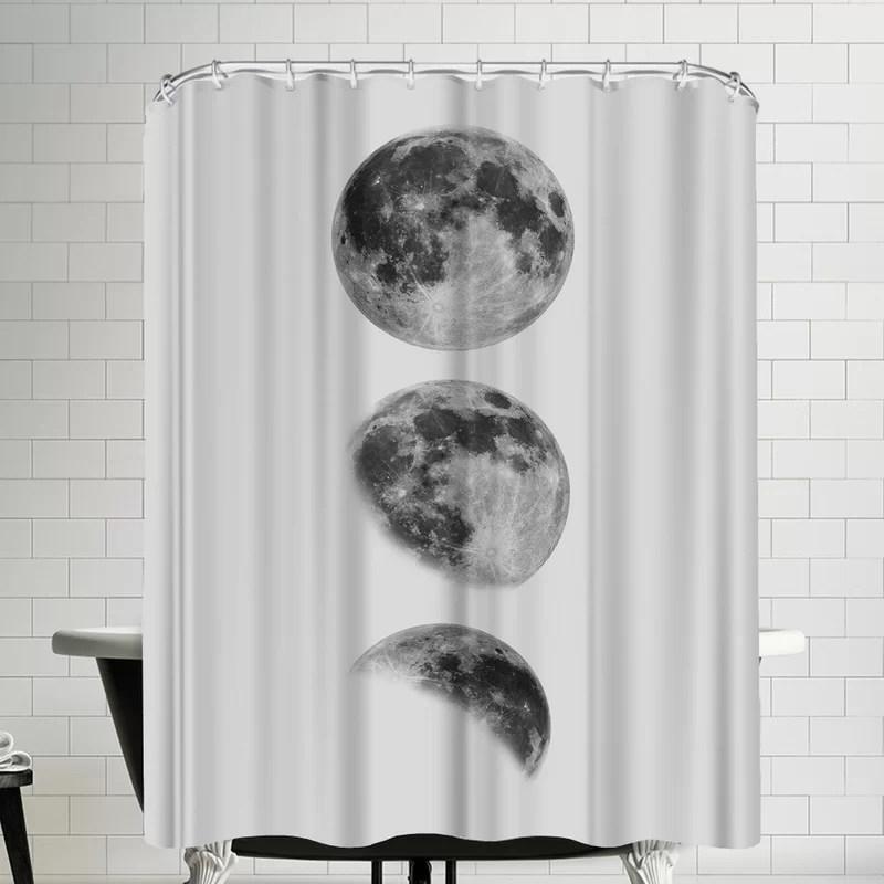 moon single shower curtain