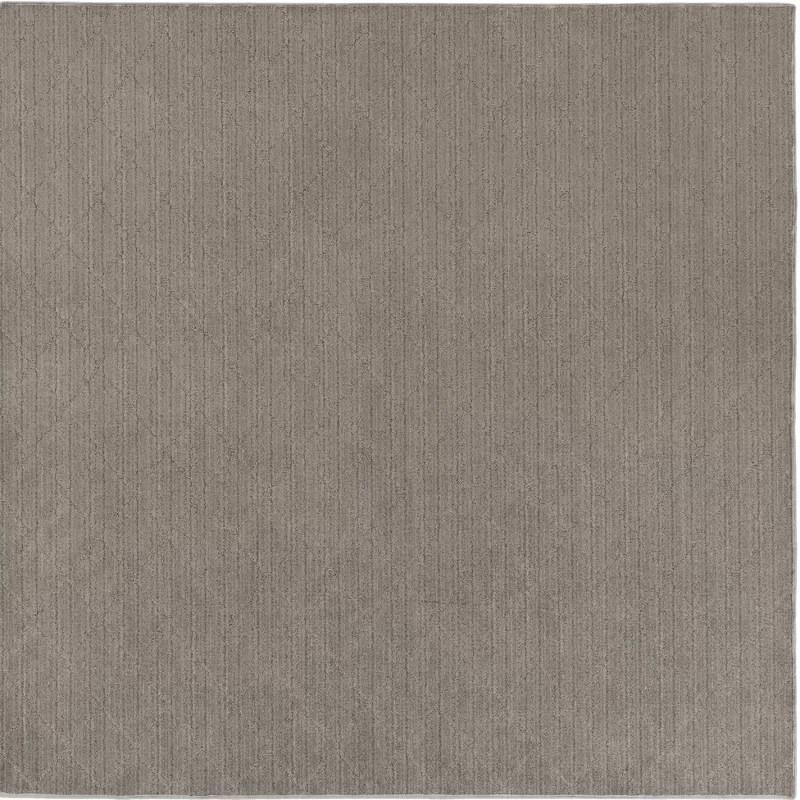 Huxley Viscose Gray Area Rug Rug Size: Square 8
