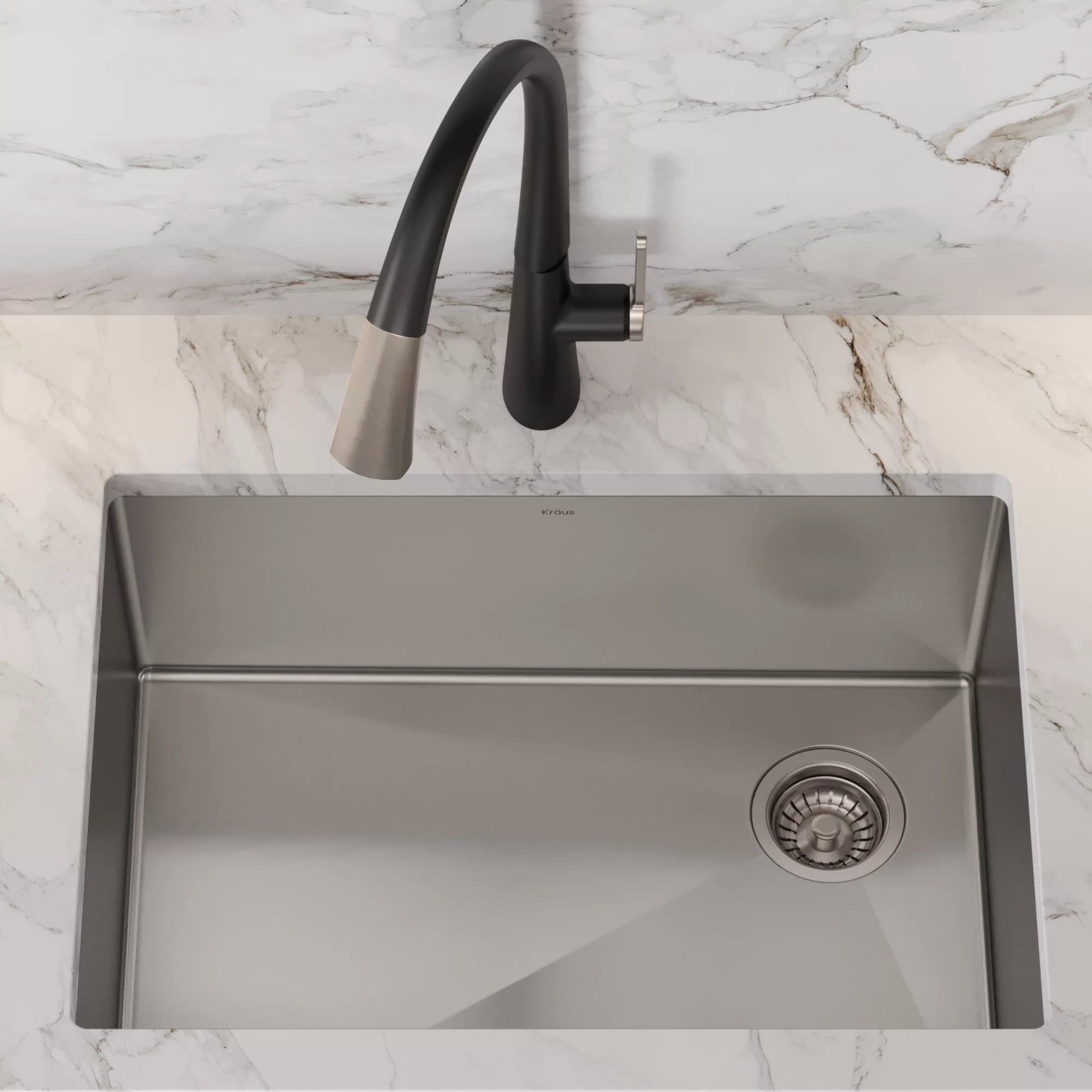 standart pro 16 gauge 27 x 19 kitchen sink with bottom grid drain assembly and drain cap