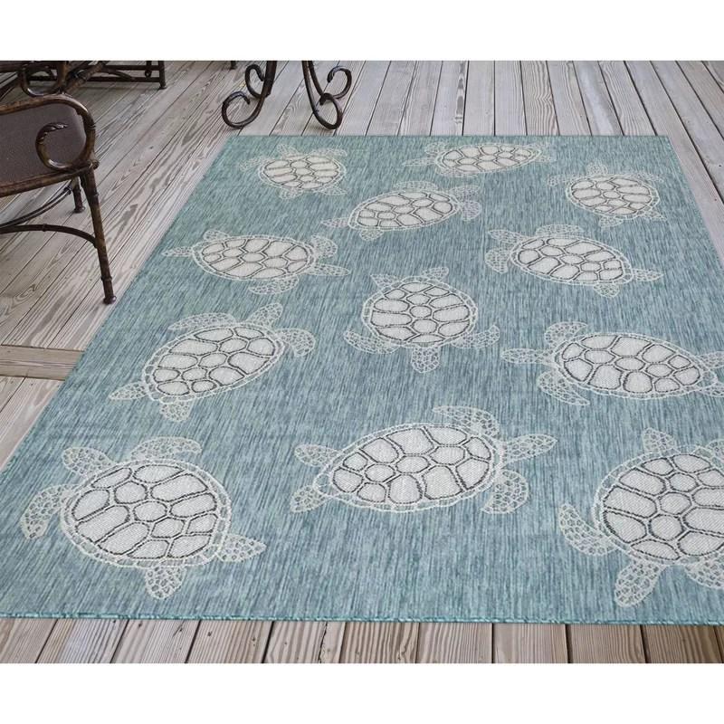 desantiago blue indoor outdoor area rug