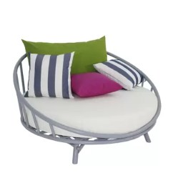 Circular Bamboo Chair Cushion Abbyson Living Rocking Bayou Breeze Olu Large Round Patio Daybed With Cushions