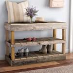 Laurel Foundry Modern Farmhouse 8 Pair Shoe Storage Bench Reviews Wayfair