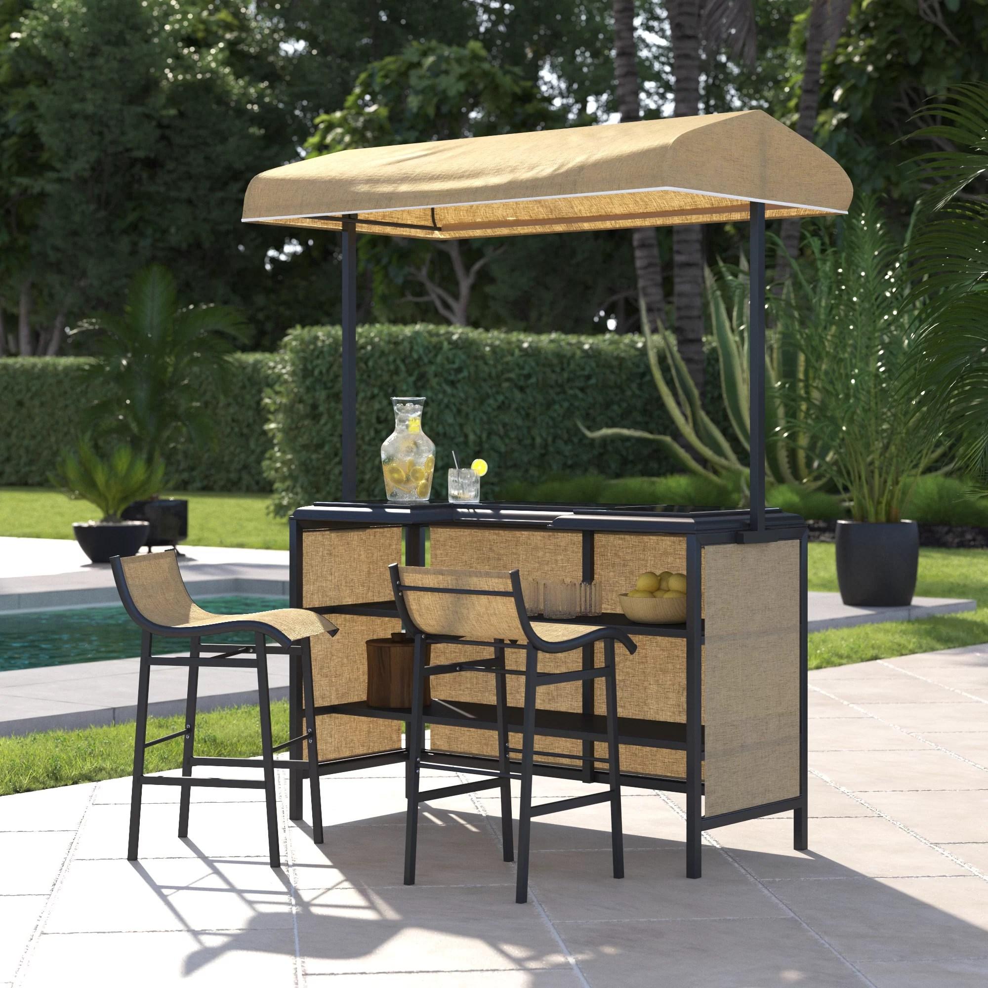 outdoor metal patio bars sets you ll