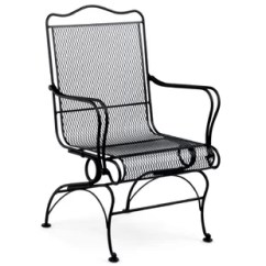 C Spring Patio Chairs Indoor Wicker Dining Chair Wayfair Tucson High Back Coil