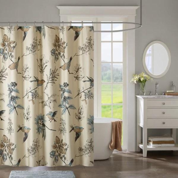 Charlton Home Shawnee 100 Cotton Single Shower Curtain