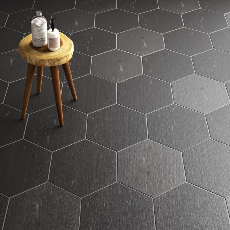 rama 14 x 16 porcelain wood look wall floor tile