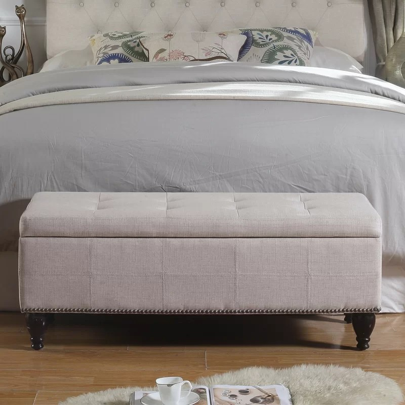 darrah upholstered flip top storage bench