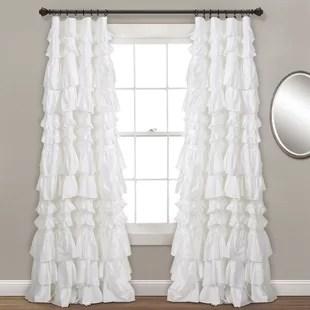 isley solid semi sheer single curtain panel