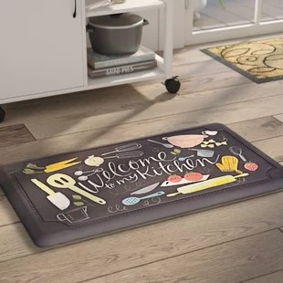 kitchen carpet discount hardware mats you ll love wayfair ca gothard scattered dri pro comfort mat