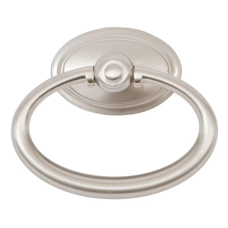 Oval Center Ring Pull Finish: Satin Nickel