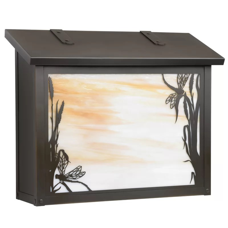 Wall Mounted Mailbox Finish: Textured Black Glass Color: Wispy White