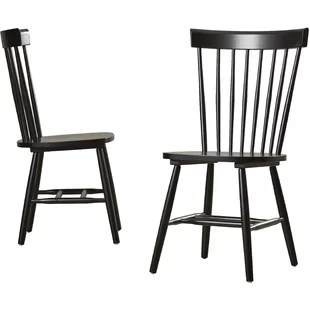distressed kitchen chairs outdoor fridge farmhouse dining benches birch lane royal palm beach solid wood chair set of 2