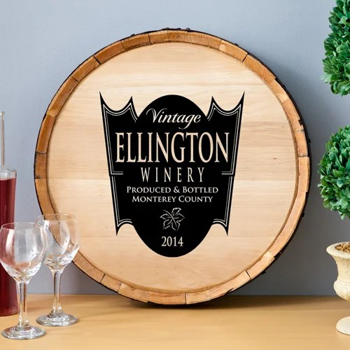 JDS Personalized Gifts Personalized Gift Wine Barrel Home Décor